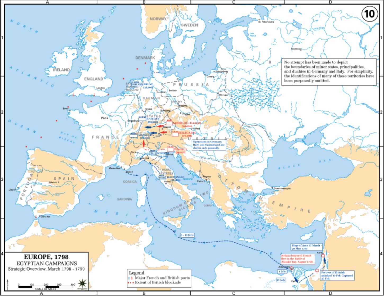 2.Situation stratégique de l'Europe en 1798