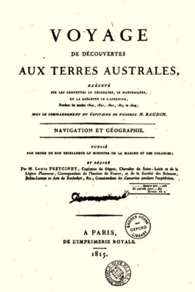LI-BAUDIN-PERRIN VOYAGE DE DECOUVERTES-Navigation