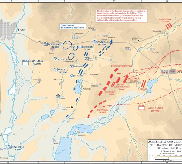 1. vers 8 heures le 1er décembre 1805